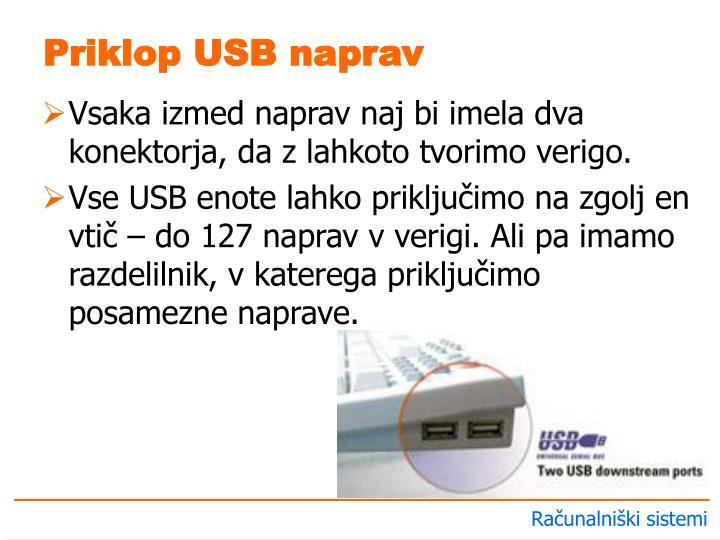 Priklop USB naprav
