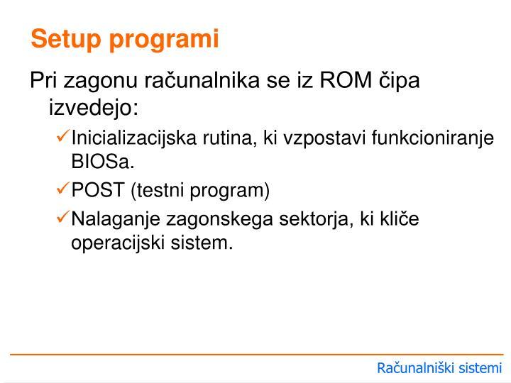 Setup programi