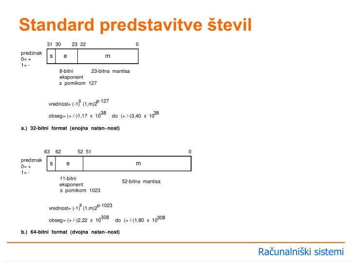 Standard predstavitve števil
