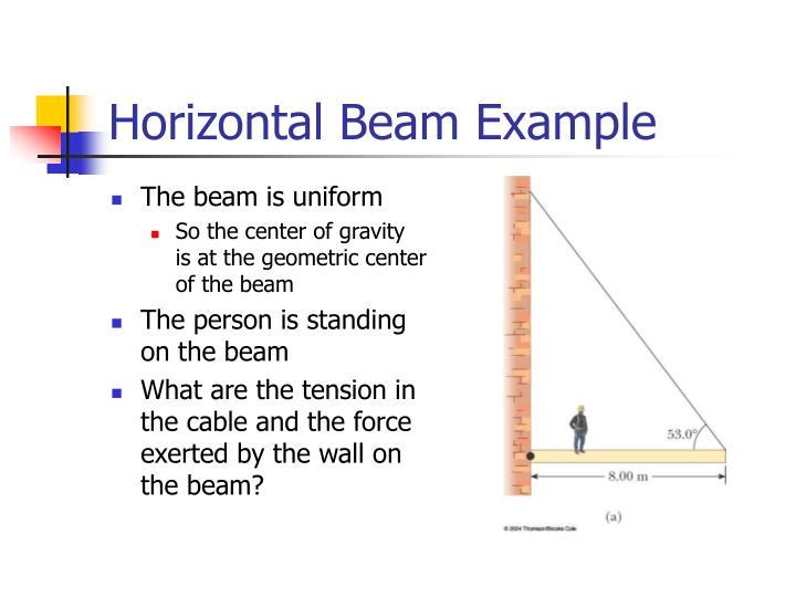 Horizontal Beam Example