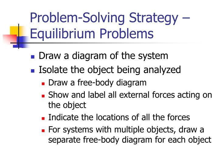 Problem-Solving Strategy – Equilibrium Problems
