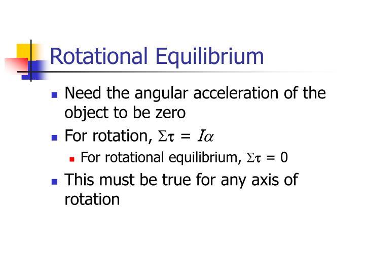 Rotational Equilibrium