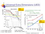 universal extra dimensions ued1