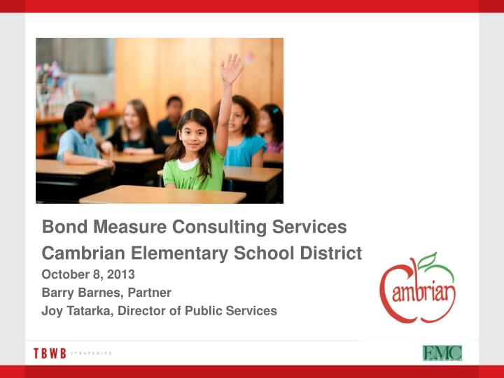 Bond Measure Consulting Services