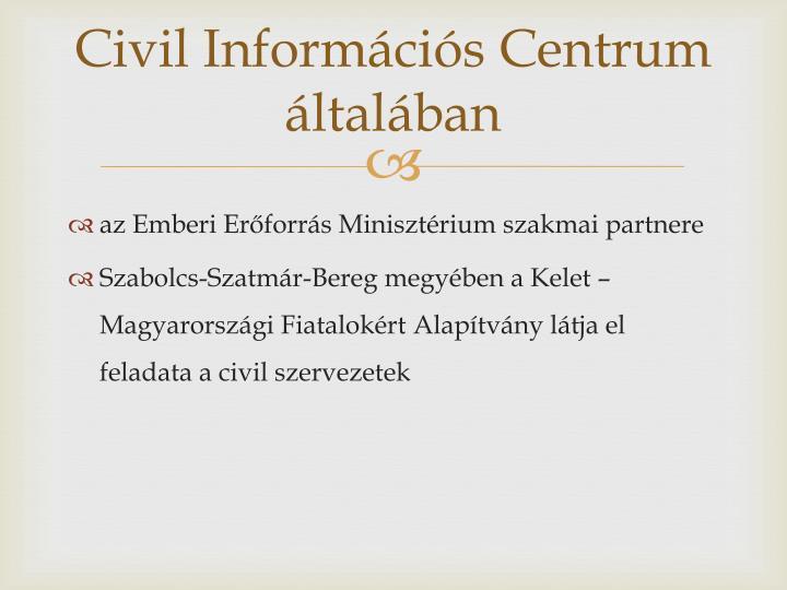 Civil inform ci s centrum ltal ban
