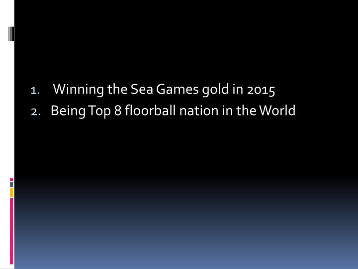 Winning the Sea Games gold in 2015
