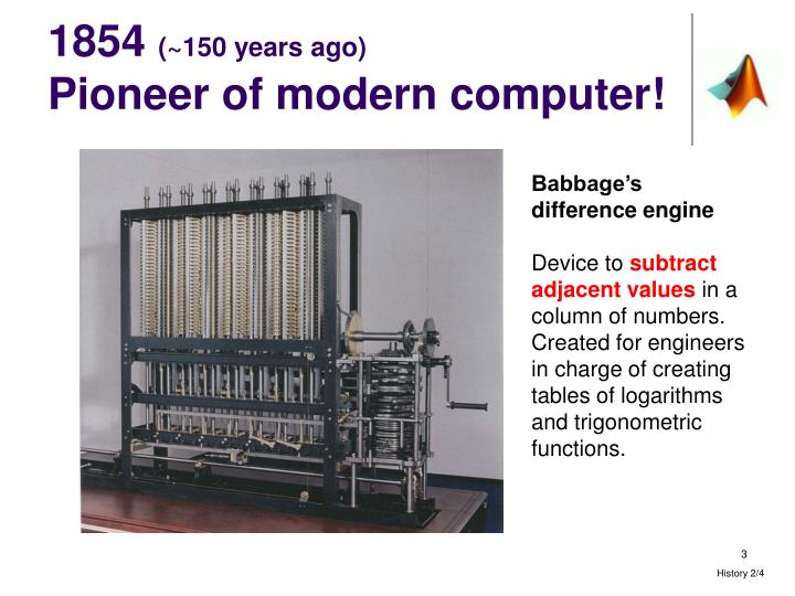 1854 150 years ago pioneer of modern computer
