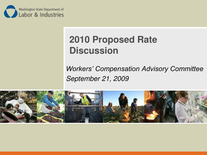 2010 proposed rate discussion n.