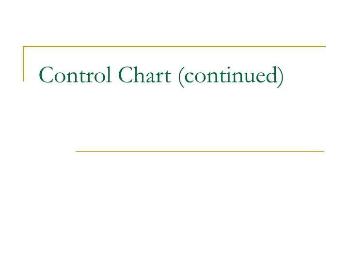 control chart continued n.