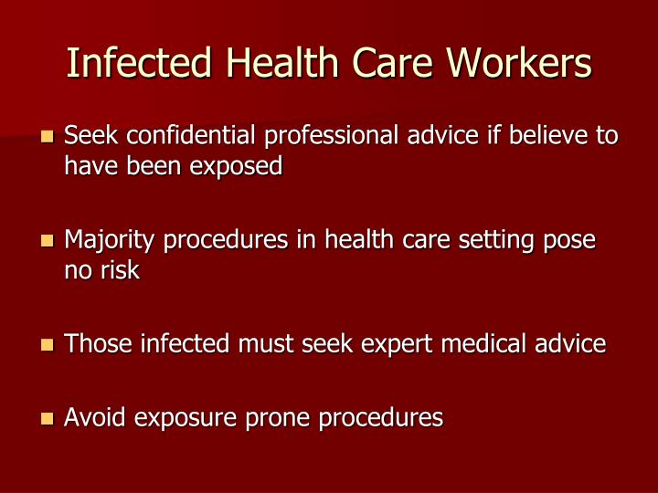 Infected Health Care Workers