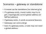 scenarios gateway or standalone