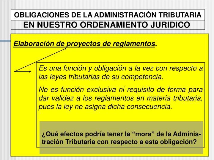 OBLIGACIONES DE LA ADMINISTRACIÓN TRIBUTARIA