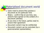 materialised document world