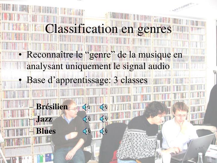Classification en genres