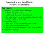 exploring the new social studies performance standards