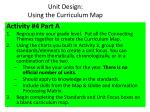 unit design using the curriculum map