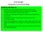 unit design using the curriculum map1