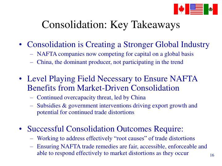 Consolidation: Key Takeaways