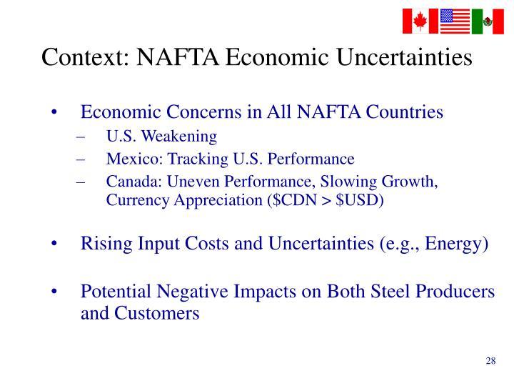 Context: NAFTA Economic Uncertainties