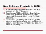 new released products in 2008