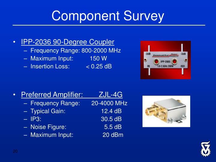 Component Survey