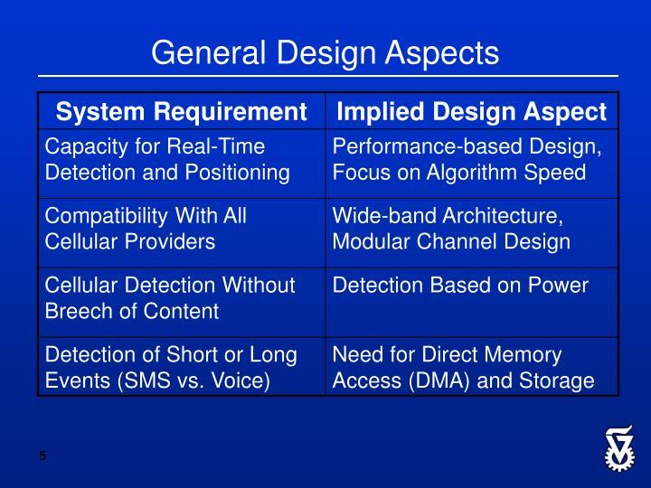 General Design Aspects