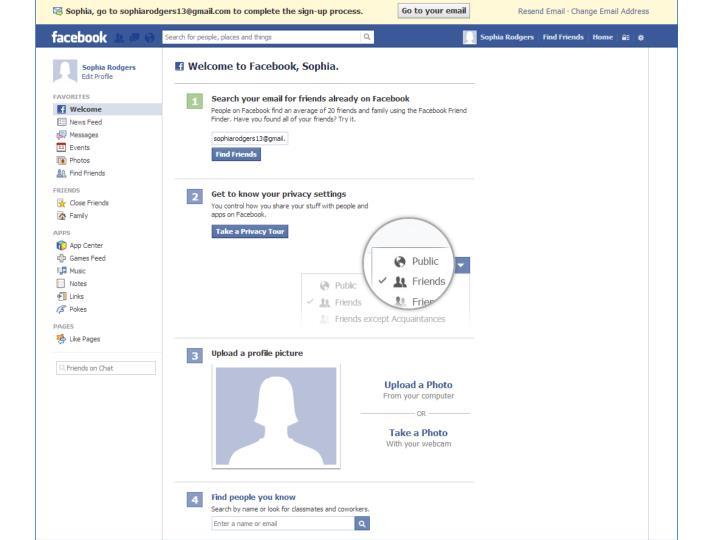 facebook login friends search n