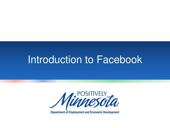 introduction to facebook n.
