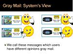 gray mail system s view