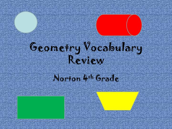 Geometry vocabulary review