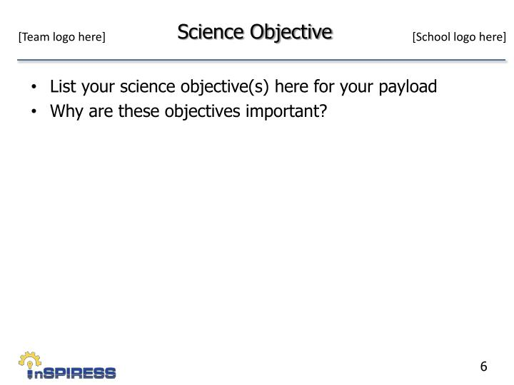 Science Objective