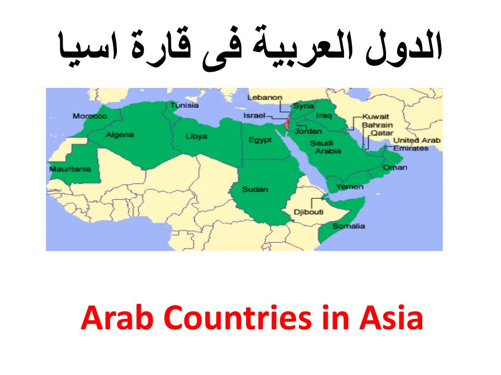 Ppt الدول العربية فى قارة اسيا Powerpoint Presentation Id 6478373
