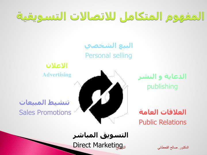 المفهوم المتكامل للاتصالات التسويقية