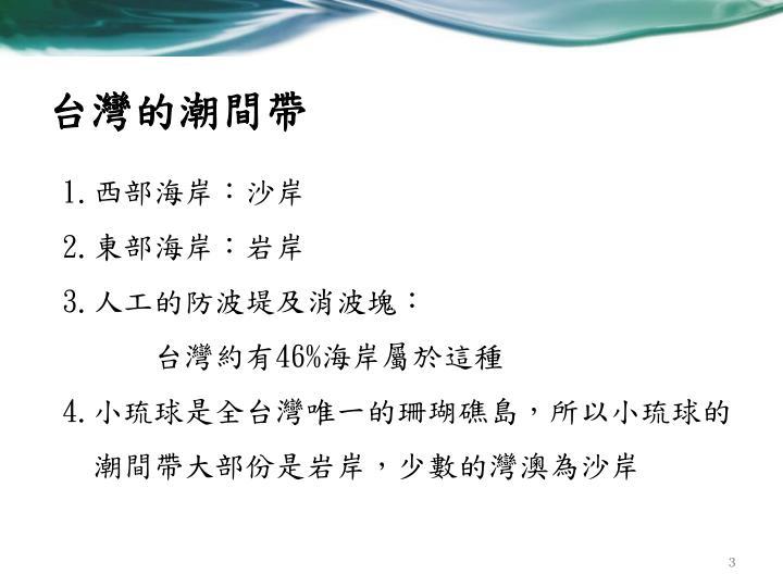 台灣的潮間帶