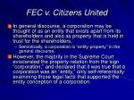fec v citizens united