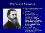 peirce and firstness
