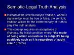 semiotic legal truth analysis