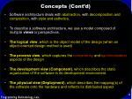 concepts cont d