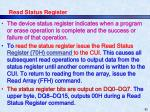 read status register