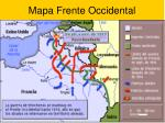 mapa frente occidental