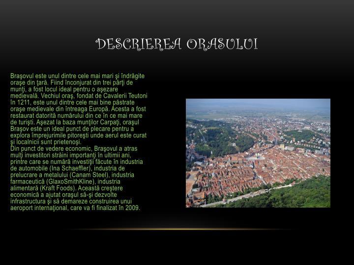 Descrierea orasului