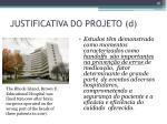 justificativa do projeto d1