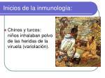 inicios de la inmunolog a