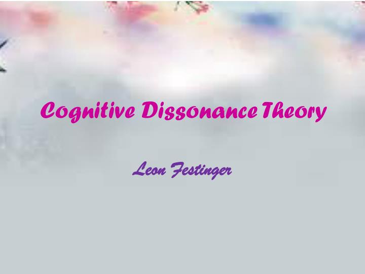 cognitive dissonance theory n.