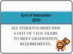 end of instruction eoi