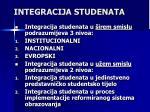integracija studenata