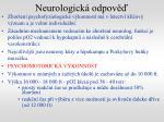 neurologick odpov