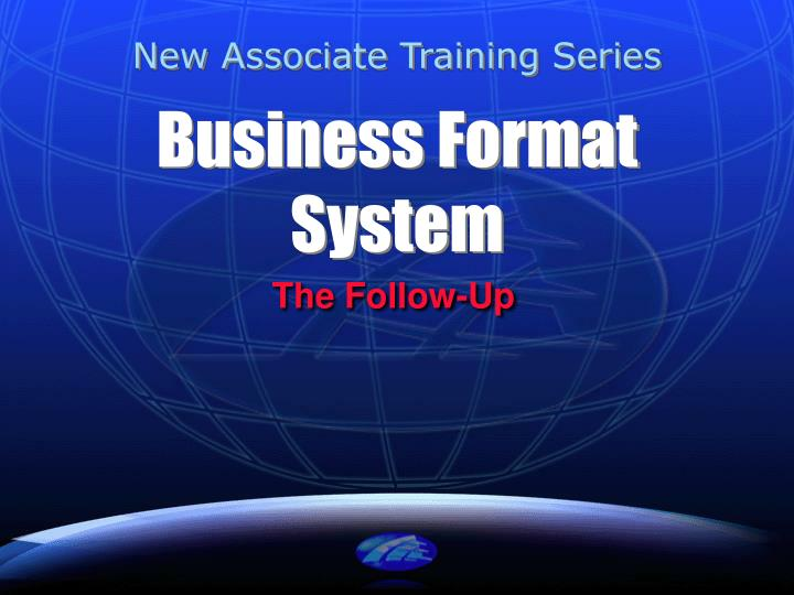 business format system n.
