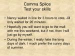 comma splice test your skills