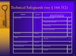 technical safeguards see 164 312
